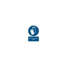 Skilt P208 Beskyttelseshandsker 210x297 plast product photo