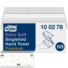 Håndklædeark Tork Premium Extra Soft H3 Z-fold hvid 230x226mm 2 lag product photo