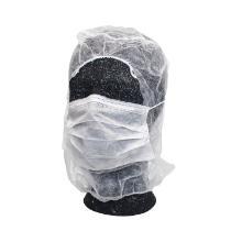 Astrocap hvid hovedbeklædning m/mundbind/elastik i pande product photo