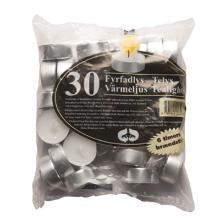 Fyrfadslys hvid 38mm 6 timer product photo