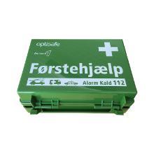 Førstehjælpskuffert grøn med indhold product photo