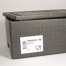 Transportkasse termo grå EPS 40ltr 595x385x260mm m/låg product photo