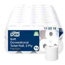 Toiletrulle Tork Premium Ekstra Soft T4 hvid 3 lag product photo