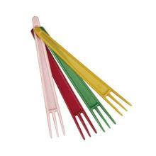 Smagsprøve/pommes frites gaffel assorterede farver product photo