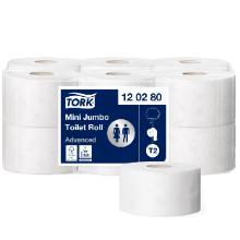 Toiletrulle Tork Advanced Mini Jumbo T2 hvid 170m 2 lag product photo