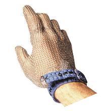 Skærehandske brynje rustfrit stål vendbar m/tekstilbånd og tryklås product photo