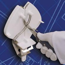 Knivaftrækker Ergo Steel 3 hvid til hånd og til skærebord product photo