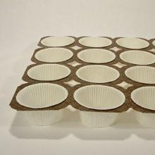 Muffinbakke brun/guld 24 stk hvide runde forme NTS2 product photo
