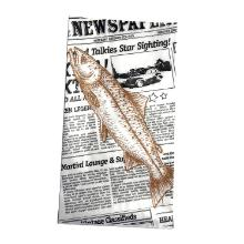 Fiskepose Old News papir/PP 200/50x370mm 70g product photo