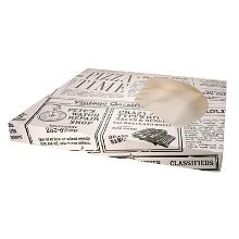 Pizzaæske Pizza Time Old News 350x350x35mm m/rude product photo