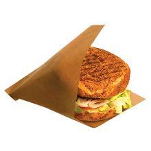 Burgerlomme brun papir/PE 150x160mm product photo