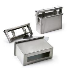 Rullepølsepresser rustfrit stål dobbelt 28.5x21x19cm m/2 mellemlæg product photo