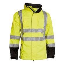 Regnjakke ELKA Visible Xtreme 2-i-1 EN ISO 20471/3 gul/sort Oxford polyester/PU product photo