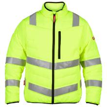 Termojakke quiltet FE safety EN20471 gul 100% polyester 100g/m2 DuPont product photo