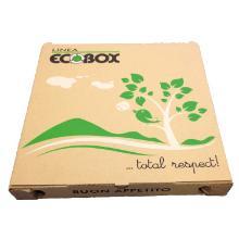 Pizzaæske brun 32x32x3cm med Ecobox logo bionedbrydelig product photo