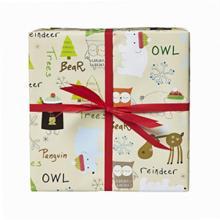Gavepapir jul beige m/rensdyr og pingviner 38cmx175m product photo