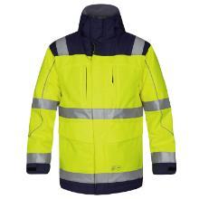 Jakke Parka FE Safety EN ISO 20471 gul/marine vandtæt åndbar product photo
