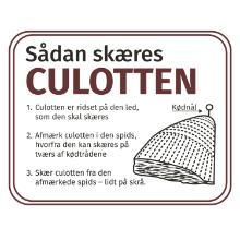 Etiket 46x36mm Sådan skæres culotten coat m/lak Ø40mm product photo