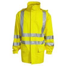 Regnjakke ELKA DryZone Offshore flammehæmmende gul PU polyester 200g product photo