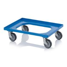 Platformsvogn blå plast 610x410mm m. gummihjul product photo