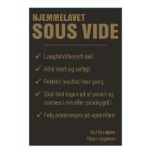 Etiket Sous Vide 99x147.5mm sort m/guld tryk frost m/lak Ø40 product photo
