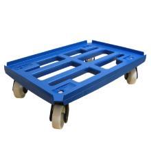 Platformsvogn med vanger blå PP 610x410mm PP hjul product photo