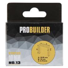 Hæfteklammer galvaniseret stål 10mm til bl.a. Rapid 33 og Probuilder product photo