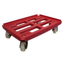 Platformsvogn med vanger rød PP 610x410mm PP hjul product photo