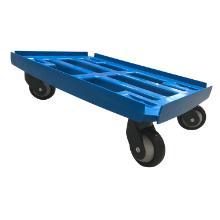 Platformsvogn med vanger blå plast 610x410mm m. gummihjul TPE product photo