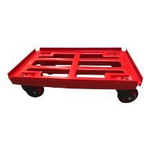 Platformsvogn med vanger rød plast 610x410mm m. gummihjul TPE product photo