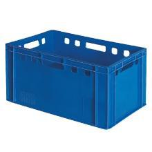Plastkasse E3 blå HDPE 600x400x300mm product photo