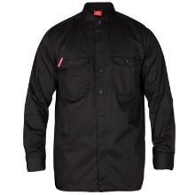 Skjorte FE standard l/æ sort polyester/bomuld 210g product photo
