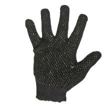Handske sort strik m/dotter polyester/bomuld product photo