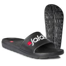 Badesandal Jalas tøffel sort med rød/hvid logo dobbeltstørrelser EVA product photo