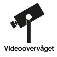 Skilt Videoovervåget 80x80 vinyl product photo