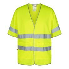 Sikkerhedsvest FE EN ISO 20471 korte ærmer gul m/velcrolukning product photo