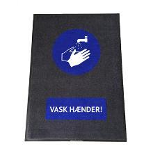 Måtte med logo Vask hænder! 90x150cm product photo