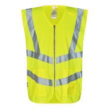 Vejvest FE EN ISO 20471 klasse 2 m/lommer gul polyester product photo