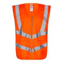 Vejvest FE EN ISO 20471 klasse 2 m/lommer orange polyester product photo