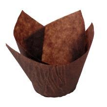 Muffinsform tulipan brun Ø50x95mm product photo