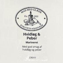 Etiket marinade Würzöl hvidløg/peber product photo