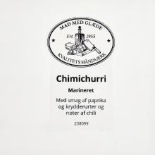Etiket marinade Würzöl chimichurri product photo