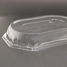 Låg oval klar APET 360x240mm t/lille plastfad product photo