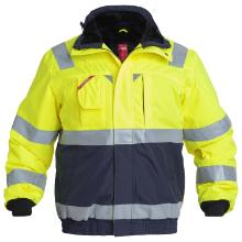 Pilotjakke FE Safety sikkerhedsbeklædning EN ISO 20471 gul/marine polyester/PU product photo