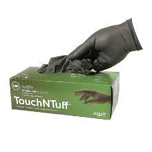 Handske TouchNTuff 93-250 grå nitril 0.12mm pudderfri product photo
