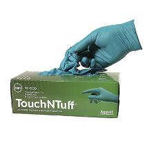 Handske TouchNTuff 92-600 grøn nitril 0.12mm product photo