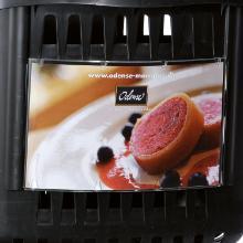 Skilteholder Transparent Til Trolleykurv product photo