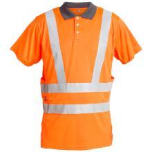 Poloshirt FE EN ISO20471 orange 100% mikrofiber polyester product photo