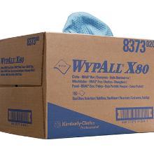 Aftørringsklud KC Wypall X80 Hydroknit stålblå 427x318mm 1 lag Brag boks product photo