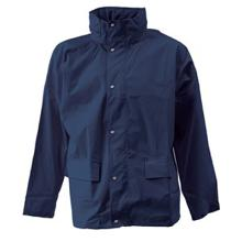 Regnjakke ELKA DryZone marine PU/polyester 190g u/refleks product photo
